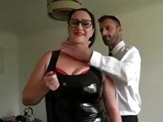 Fat curvy slut gets drilled rough by BDSM loving master