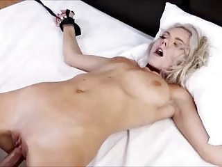 Sexy slave Molly Mae gets drilled while tied up BDSM