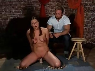 Painful but passionate whipping session with a sub slut BDSM