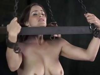 Bonded slut got her ass caned by master BDSM porn