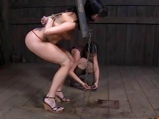 Cyd Black and Sarah Jane Ceylon extreme bondage BDSM sex