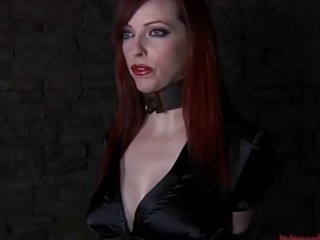 Redhead slave babe is about to be punished hard BDSM