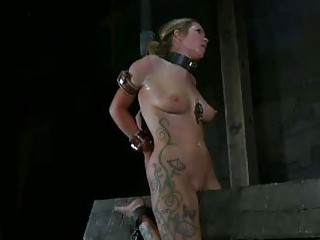 Tied up lady can barely handle the pain BDSM movie