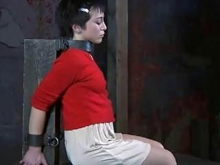 Petite slave girl has bondage sex with lesbian mistress BDSM