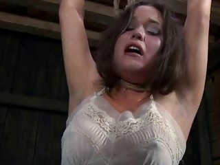 Submissive chick has freaky bondage sex with master BDSM porn