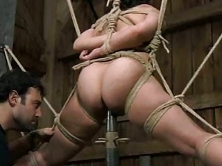 Sexy bitch tied up and destroyed with kinky sex toys