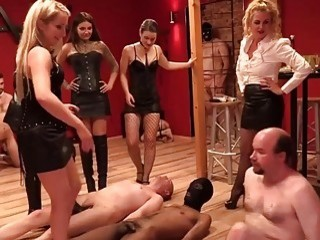 Mistresses decide to step on black and white dudes hard