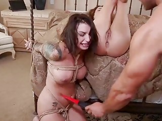 White girl gets her pussy tortured and fucked by master