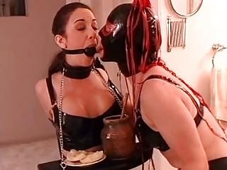 Young sluty girl enjoys BDSM and lezdom with her mistress