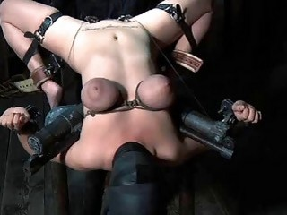 She gets her big tits and pussy lips tortured BDSM