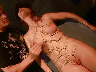 Cute redhead bondage slave fucked by perverted master BDSM movie