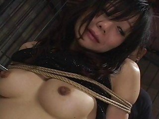 Hot Asian slave babe ass toyed and fucked hard BDSM
