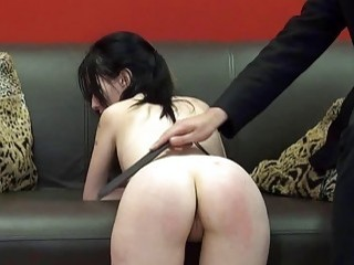 Sub slut Fae worships masters shoes and gets spanked BDSM