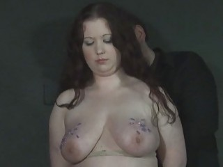Yummy milf gets her tits tortured tin a brutal scene