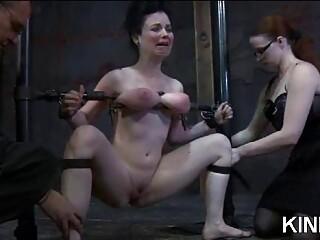 Lesbian mistress has her way with bound slave BDSM porn