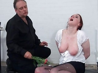Tender young chick humiliated and dominated by a horny man