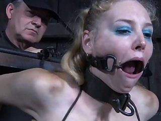 Bound babe toyed super rough in Delirious Hunter BDSM porn