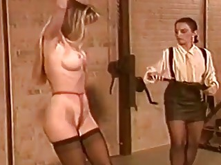 Busty bitches dominated by female mistress BDSM fetish lesbian porn