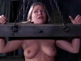 Dia Zerva destroyed on the bondage device BDSM fetish porn