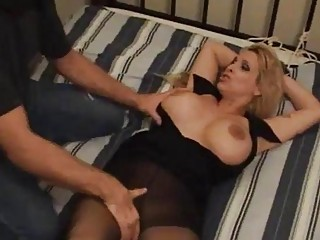 Tied up busty girl choked out and fucked hard BDSM