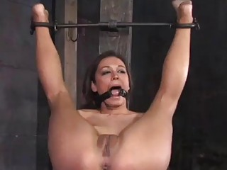 Caged slave girl Crissy Moon pussy fucked by master BDSM