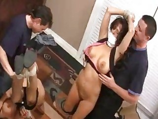 Busty bound stripped abused and fucked by freaks BDSM porn