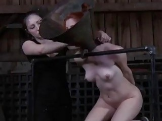Slave slut Calico Lane gets pissed on by master BDSM