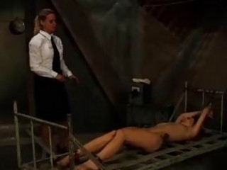 No escape for this slave as BDSM lezdom mistress whips