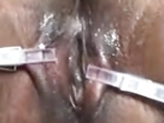 Nasty close up pussy torture with some fingering BDSM porn
