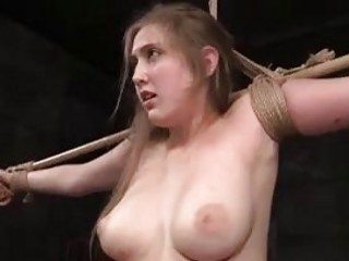 Maledom master ties up and whips a lusty slut BDSM