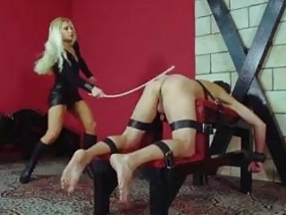 Sissy slave whipped into submission by his mistress BDSM porn