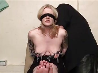 BDSM maledom porn tied up slave pierced and tits tortured