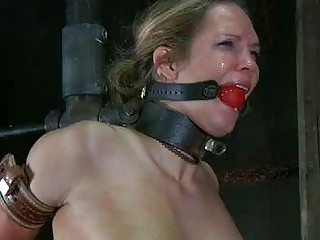 She loves begging for pain while tied up BDSM porn