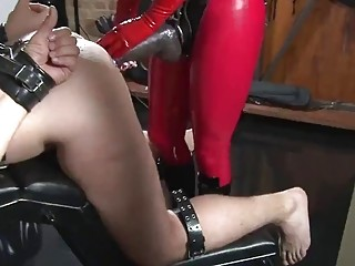 Babe gets her toy out and fucks dude's tight butt