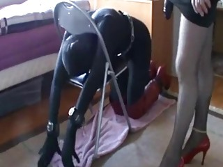 Babe tied up to the chair and fucked real hard