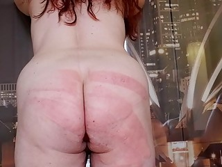 Chick with a big fat ass  gets whipped super hard