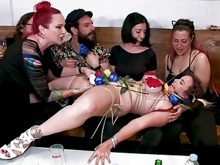 Lesbians show this submissive girl what a good time is
