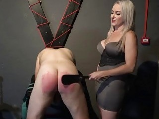 Flogging his big fat useless ass and making him bleed