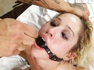 Big booty blondie bent over and fucked by her partner