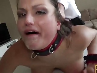 Chick with nice titties gets fucked hard by her man