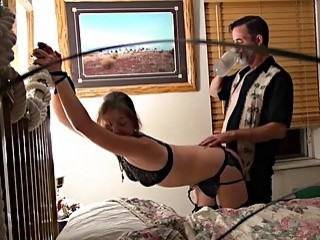 Old guy pins girl down and fucks her tight pussy