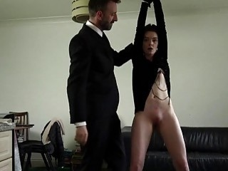 Tender lass gets choked and facefucked by her hot master
