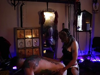 Ass fuck kink time with femdom for dude and woman
