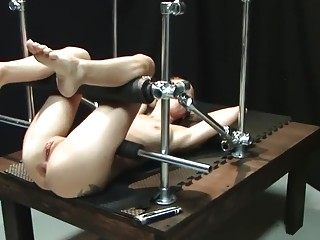 Bondage tease device for a chick tied up to it