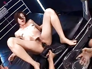 Cute young Asian with small boobs forced on severe sex