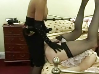 Tantalizing mistress enjoys BDSM and femdom with her sissy husband