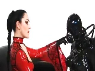 Tantalizing mistress enjoys BDSM and femdom with her submissive slaves