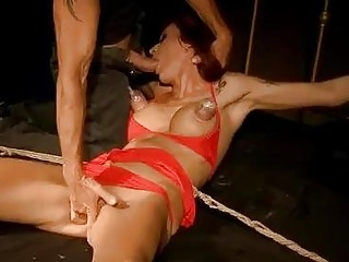 Inked mother is ready for extreme and painful anal penetration