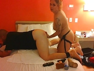 Femdom Strapon Pegging In Hotel Room