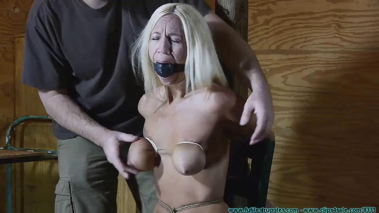 Tied Up Chick Tits And Pussy Tortured By Bdsm Master Bdsm One